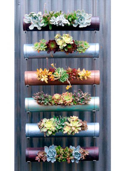 Ideias simples para ter uma jardim em espaços pequenos!  Tudo de bom